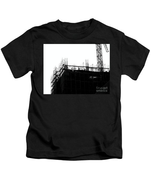 Large Scale Construction In Outline Kids T-Shirt