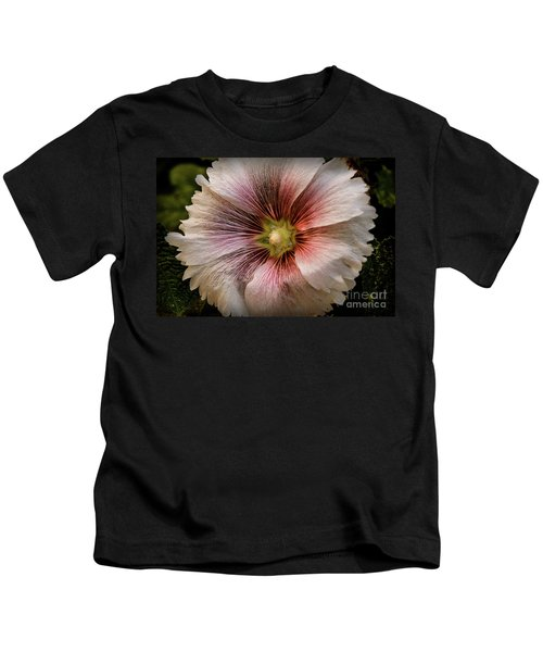 A  Pink Hollyhock Kids T-Shirt