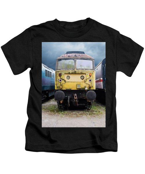 Abandoned Yellow Train Kids T-Shirt