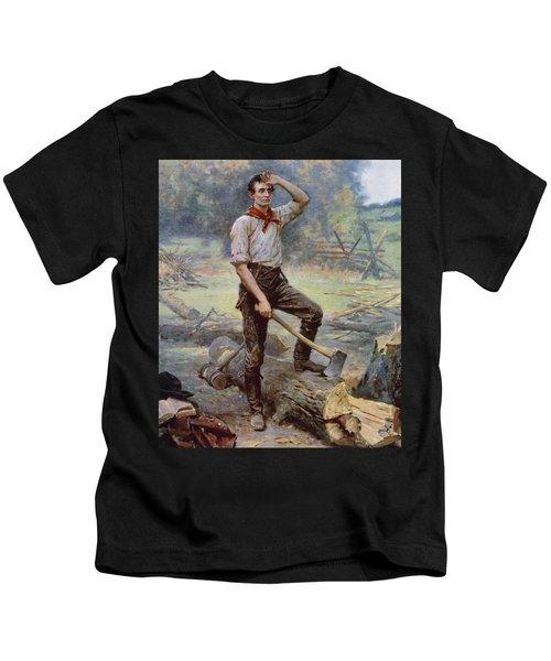 Abe Lincoln The Rail Splitter  Kids T-Shirt