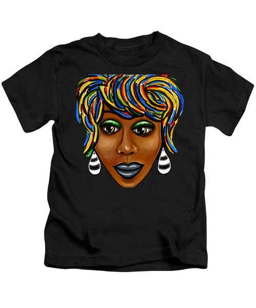 Abstract Art Black Woman Retro Pop Art Painting- Ai P. Nilson Kids T-Shirt