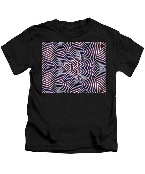 Abstract Zebra Design Kids T-Shirt
