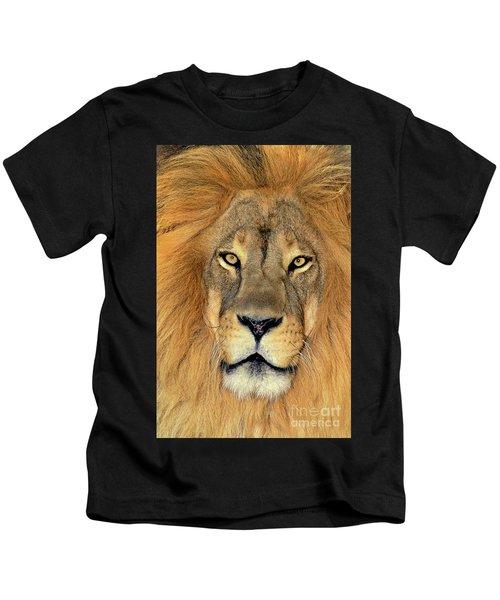 African Lion Portrait Wildlife Rescue Kids T-Shirt