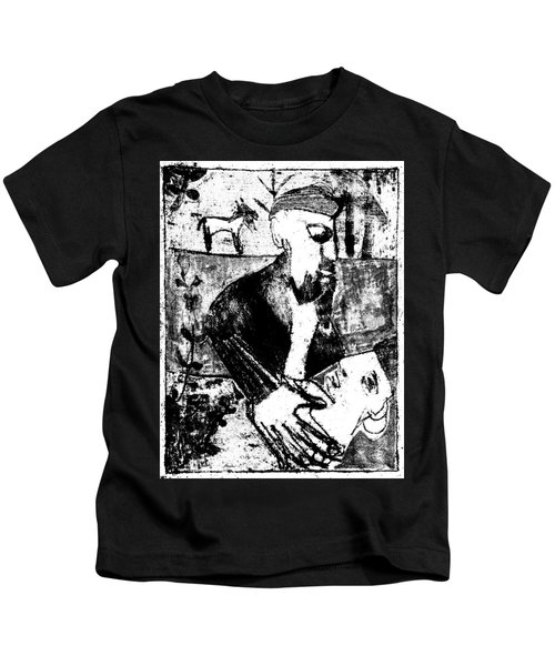 After Childish Edgeworth Black And White Print 26 Kids T-Shirt