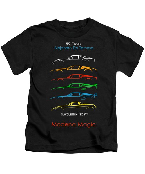 Alejandro's Sports Car 60 Silhouettehistory Kids T-Shirt