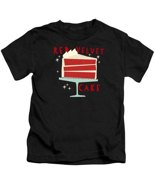 All American Classic Red Velvet Cake Kids T-Shirt