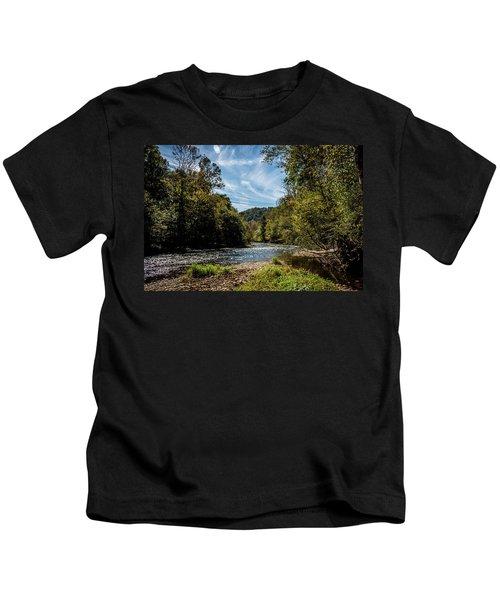 Along Oconaluftee River Trail Kids T-Shirt