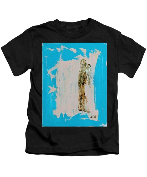 Angel With His Dog Wings Kids T-Shirt