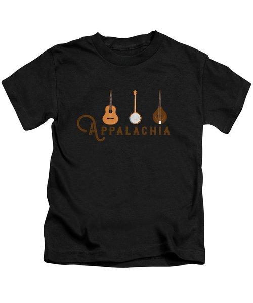 Appalachia Mountain Music White Mountains Kids T-Shirt