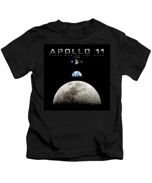 Apollo 11 First Man On The Moon Kids T-Shirt