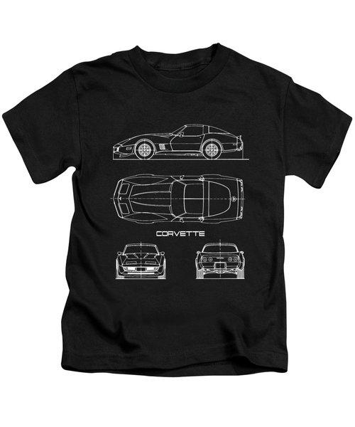 Corvette C3 Blueprint Kids T-Shirt