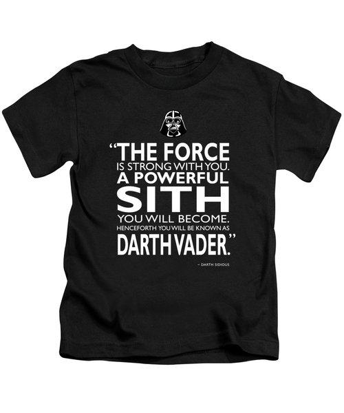 A Powerful Sith Kids T-Shirt
