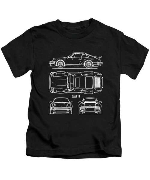 The 911 Turbo Blueprint Kids T-Shirt