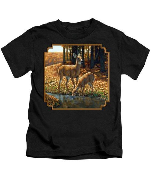 Whitetail Deer - Autumn Innocence 1 Kids T-Shirt