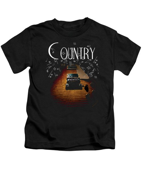 Color Country Music Guitar Notes Kids T-Shirt