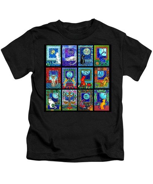 Astrology Cat Zodiacs Kids T-Shirt