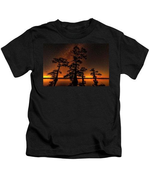 Atchafalaya Basin On Fire Kids T-Shirt