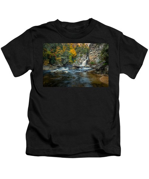 Autumn At Linville Falls - Linville Gorge Blue Ridge Parkway Kids T-Shirt
