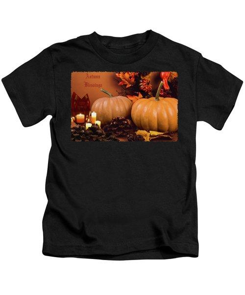Autumn Blessings Kids T-Shirt