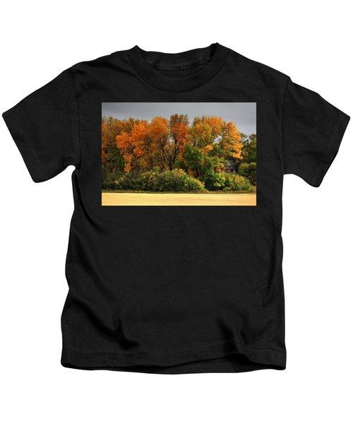 Autumn Is Nigh  Kids T-Shirt