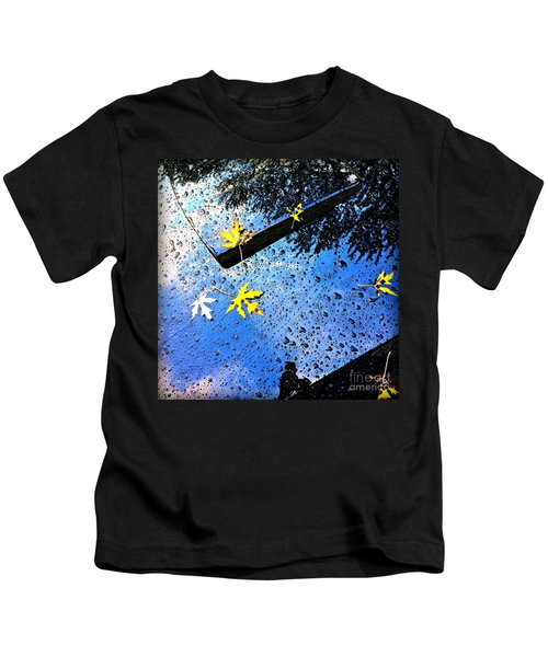 Autumn Raindrops Car Reflections Kids T-Shirt