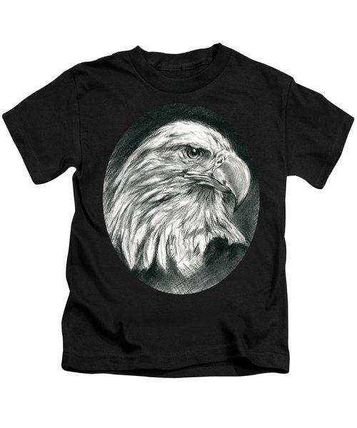 Bald Eagle Intensity Kids T-Shirt