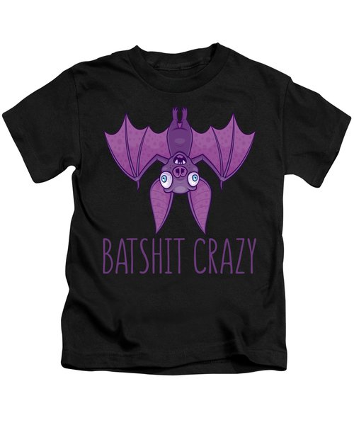 Batshit Crazy Wacky Cartoon Bat Kids T-Shirt