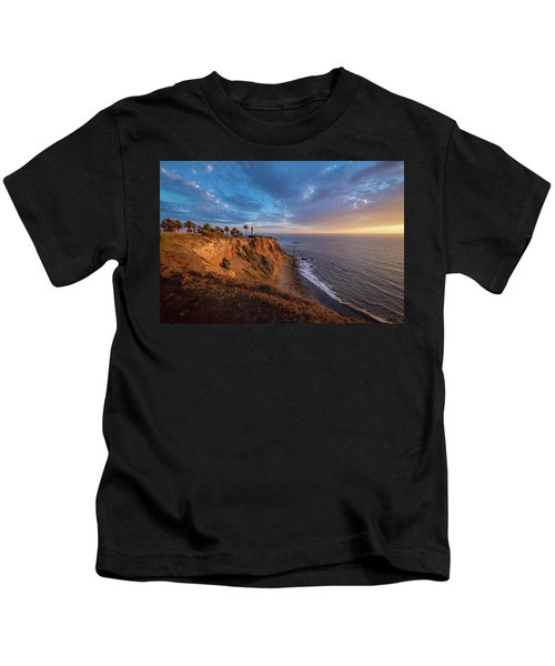 Beautiful Point Vicente Lighthouse At Sunset Kids T-Shirt