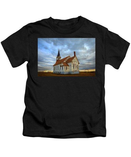 Bethel Scandinavian Lutheran Church At Sunset Kids T-Shirt