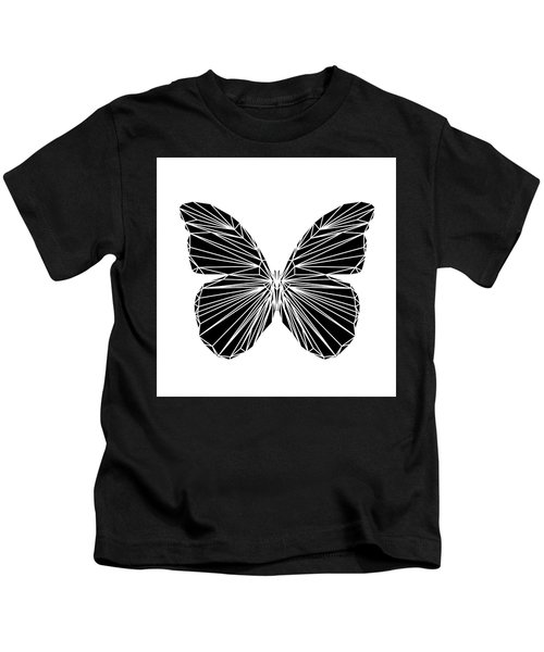Black Butterfly Kids T-Shirt