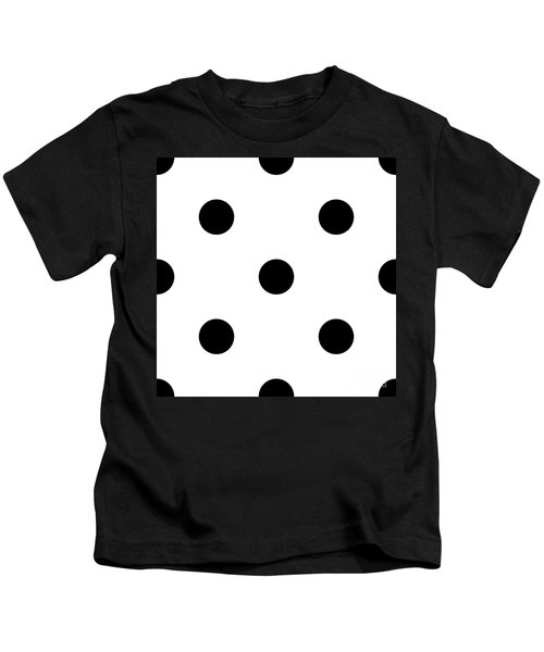 Black Dots On A White Background- Ddh610 Kids T-Shirt