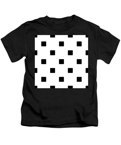 Black Squares On A White Background- Ddh574 Kids T-Shirt