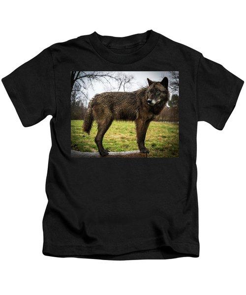 Black Wolf Kids T-Shirt