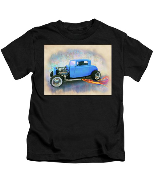 Blue 32 Ford Coupe Kids T-Shirt