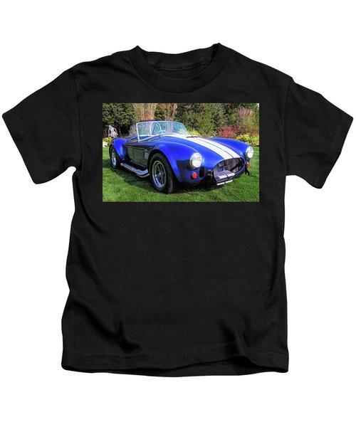 Blue 427 Shelby Cobra In The Garden Kids T-Shirt