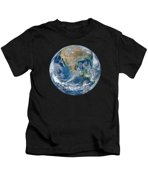 Blue Marble Our Earth From Space Kids T-Shirt