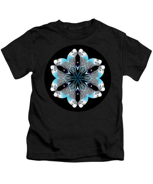 Blue Parakeet Mandala Kids T-Shirt