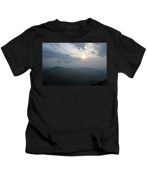 Blue Ridge Parkway Sunset Kids T-Shirt