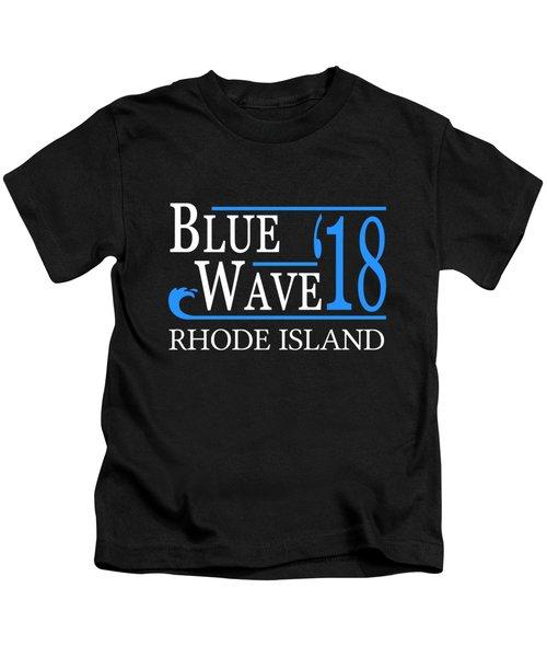 Blue Wave Rhode Island Vote Democrat 2018 Kids T-Shirt