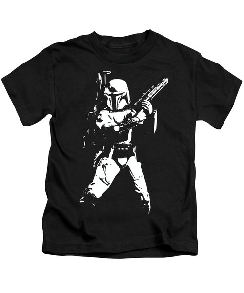 Boba Fett Minimalistic Pop Art Kids T-Shirt