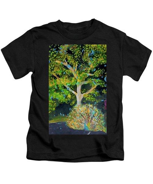Branching Out Peacock Kids T-Shirt