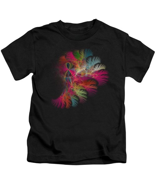 Brilliant Flare Coral Fractal Kids T-Shirt