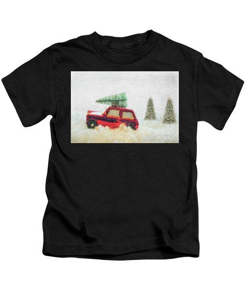 Bringing Christmas Home Kids T-Shirt
