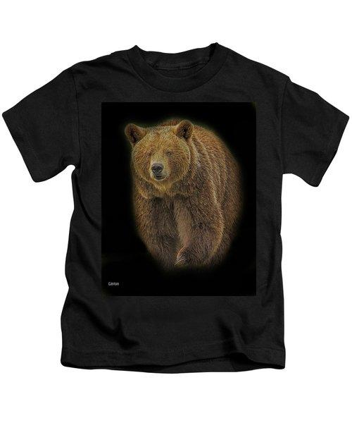 Brown Bear In Darkness Kids T-Shirt