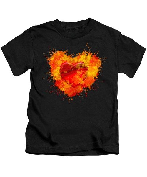 Burning Heart Kids T-Shirt