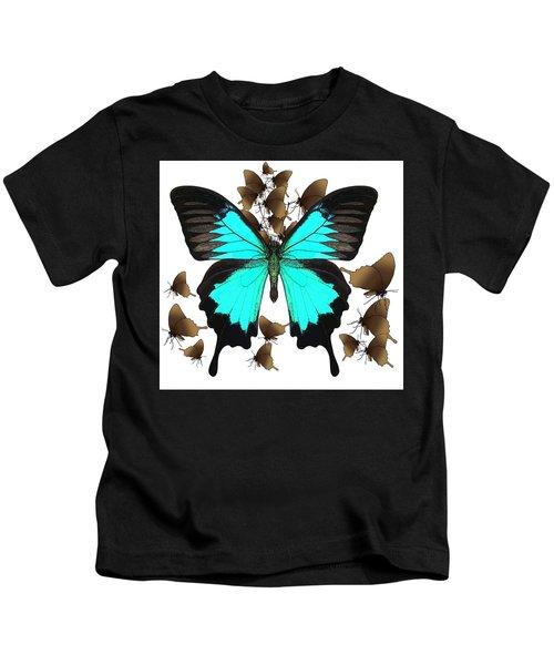 Ulysses Butterfly All A Flutter Kids T-Shirt