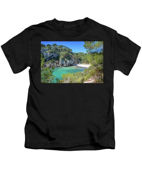 Cala Macarelleta Beach In Menorca Kids T-Shirt