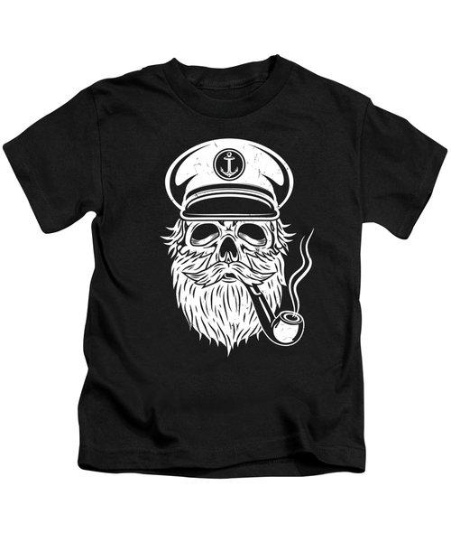 Captain Skull Sailor Kids T-Shirt