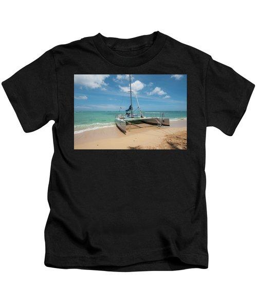Catamaran On Waikiki Kids T-Shirt