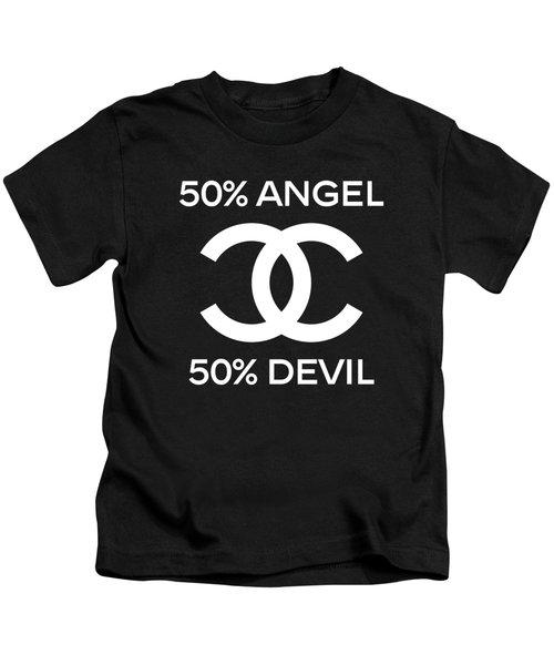 Chanel Angel Or Devil-4 Kids T-Shirt